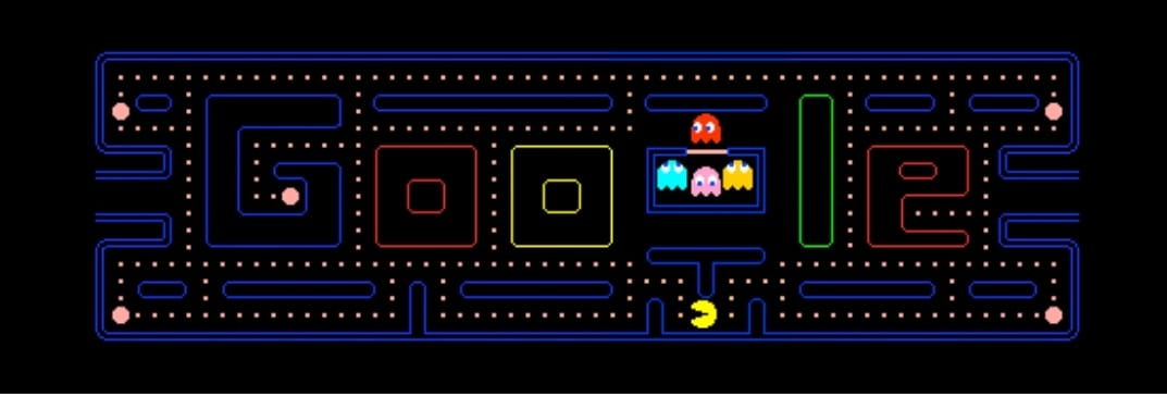Pack-Man game in google search result